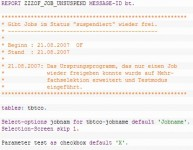 Jobs in SAP suspendieren und wieder freigeben