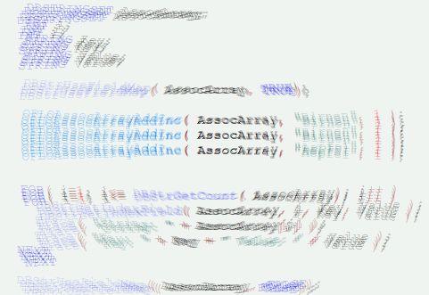 Programmbeispiel zu assoziativen Arrays in der Programmiersprache DOCUcontrol