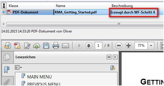 DOCUcontrol Workflow beendet
