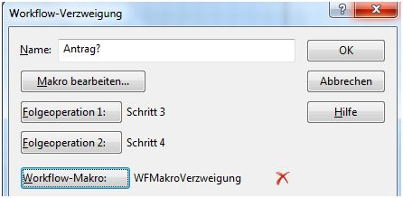DOCUcontrol Workflow Verzweigung
