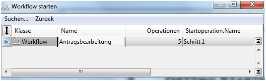 DOCUframe Workflow-Schritt