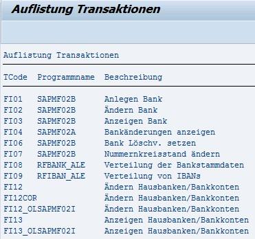 ABAP Auflistung von SAP-Transaktionen: Druckausgabe