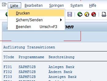 SAP Druck der Ausgabe des ABAP-Reports