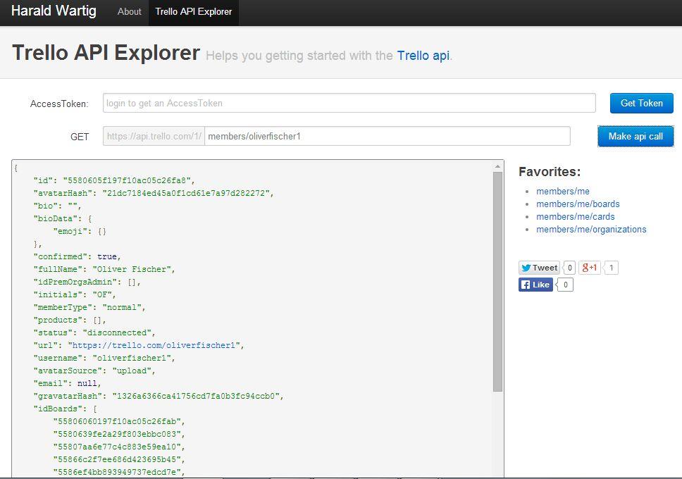 Trello API Explorer