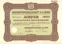 Loewe Aktie von 1930