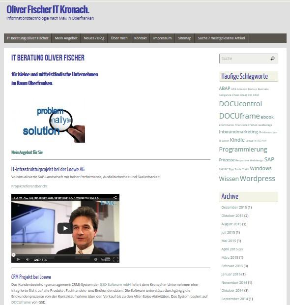 Webseite Oliver Fischer IT defekt